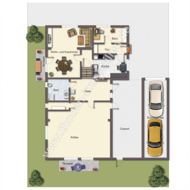 Thoben immobilien for Grundriss kleines einfamilienhaus