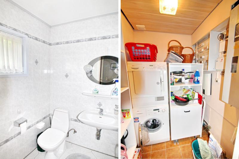 G-WC und Hauswirtschaftsraum