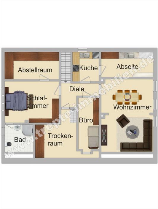 Grundriss vermietete Wohnung Obergeschoss