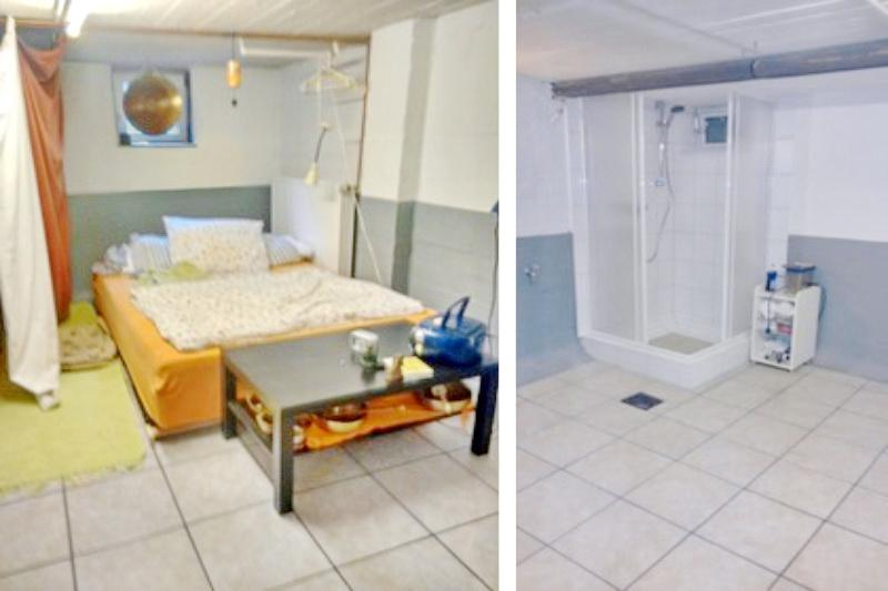 Gästezimmer mit Dusche