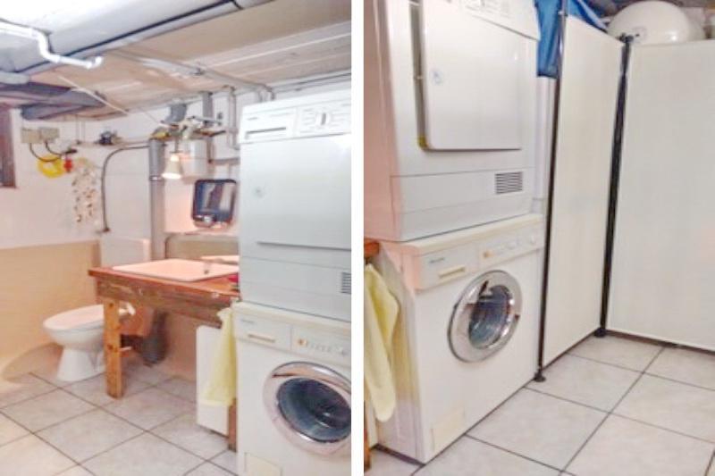 Waschküche mit Gäste-WC