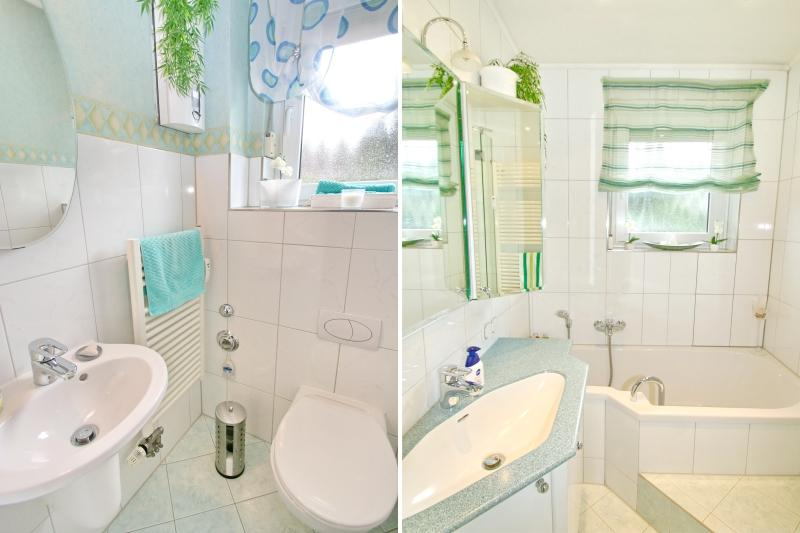 Gäste-WC und Badezimmer