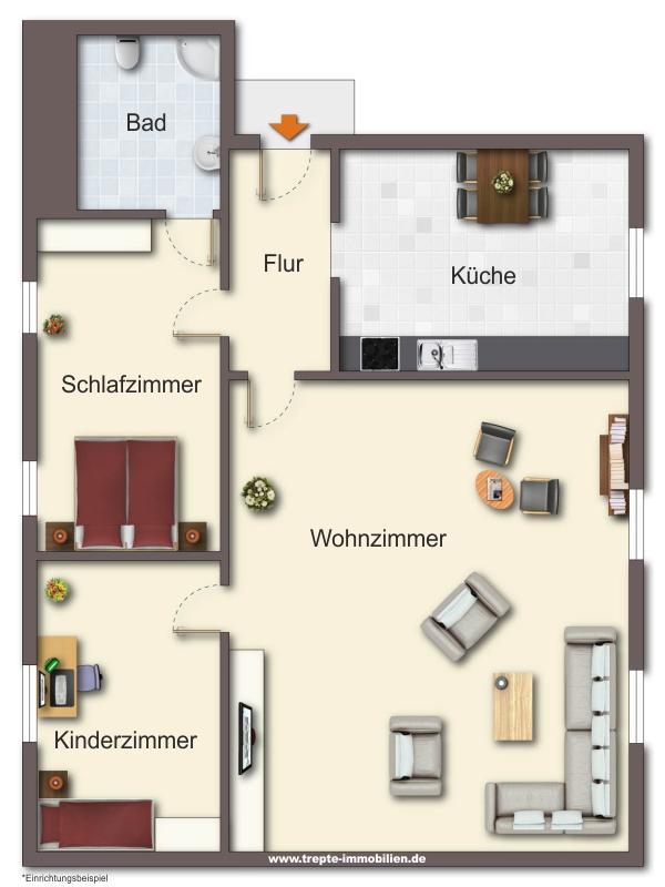 Grundriss Wohnung 4 Obergeschoss