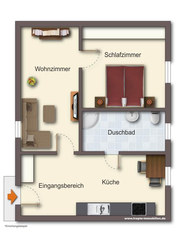 Grundriss Wohnung 1 Erdgeschoss