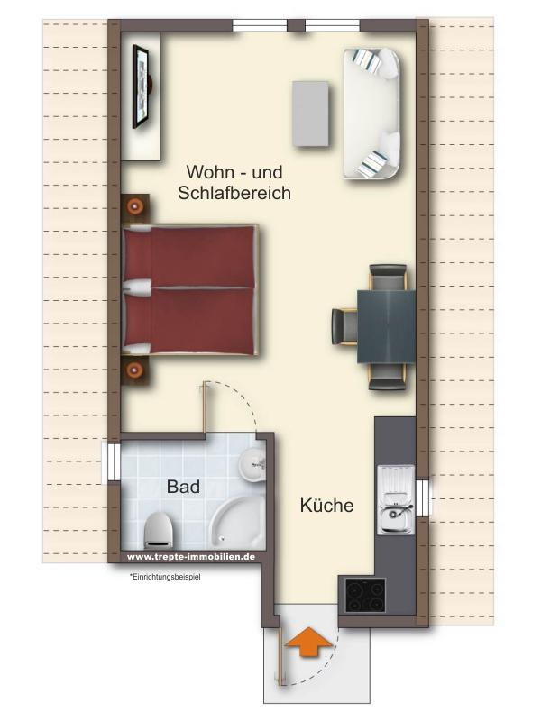 Grundriss Wohnung 3 Obergeschoss