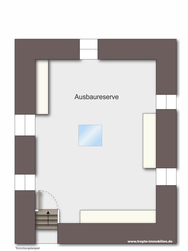 Grundriss Wohnung Ausbaureserve Dachgeschoss
