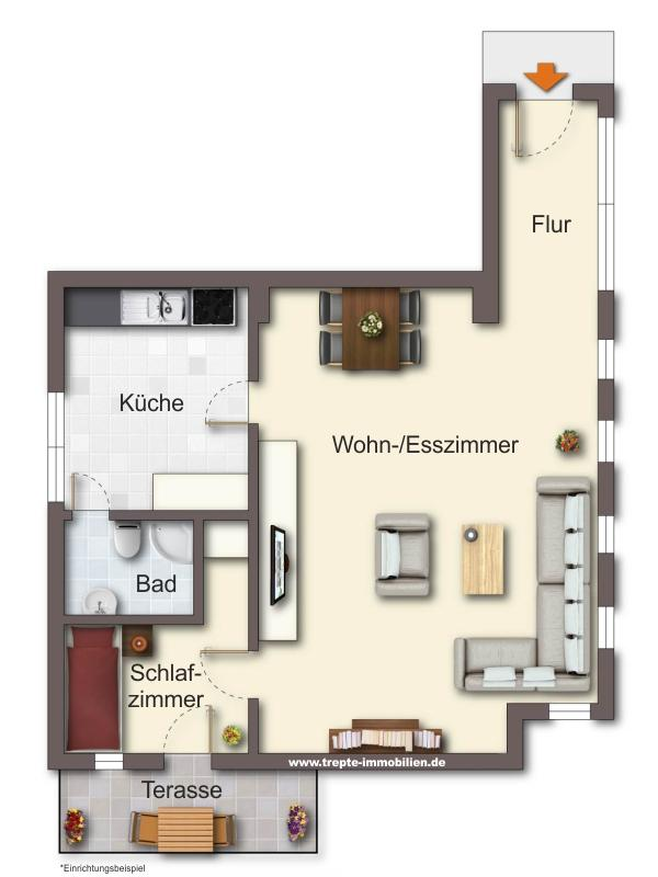 Grundriss Wohnung 2 Erdgeschoss