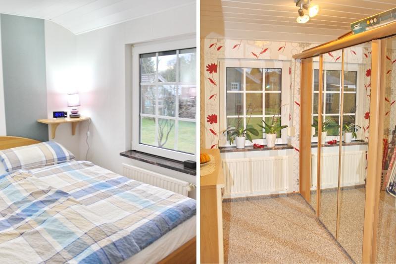 Schlafzimmer und Ankleidebereich