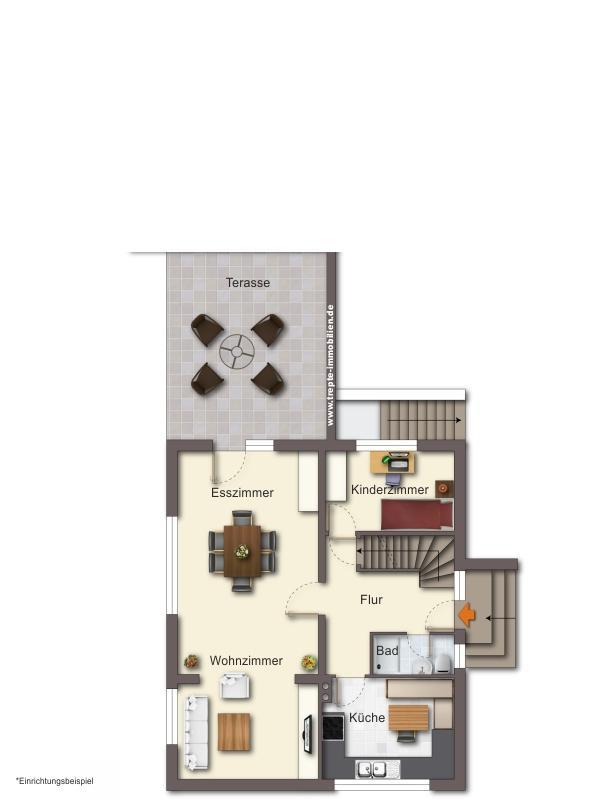 Grundriss Erdgeschoss Haus 1