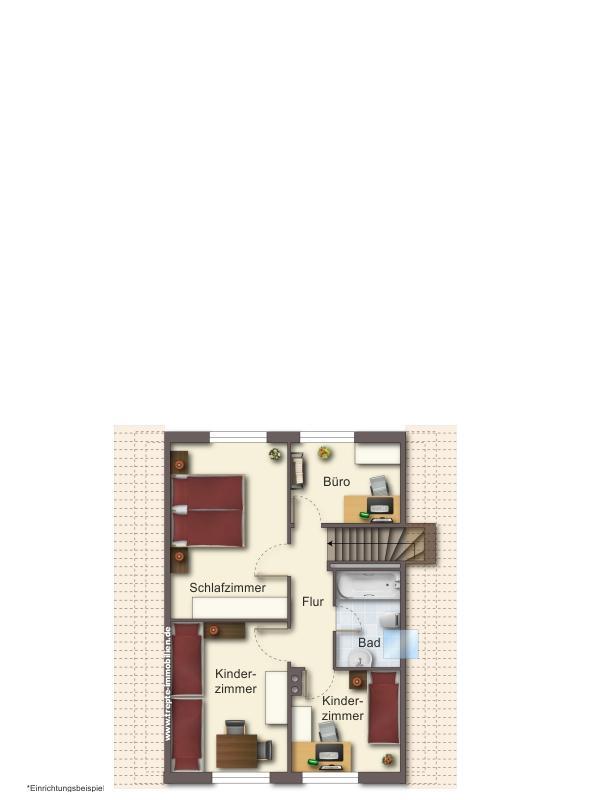Grundriss  Dachgeschoss Haus 1