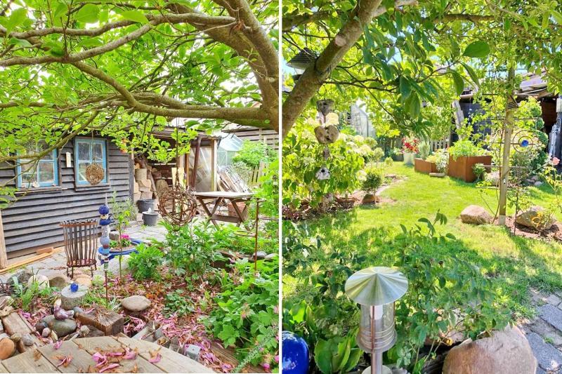 Schuppen und Garten