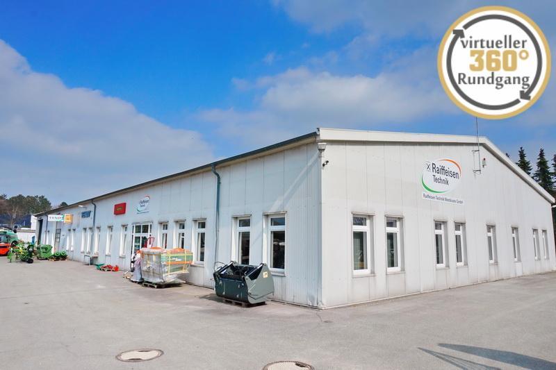 Lager-/Werk-/Verkaufshalle mit Bürotrakt und großzügigem Außengelände in Toplage