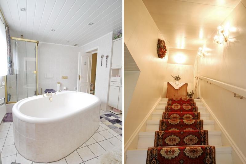 Badezimmer und Treppenaufgang